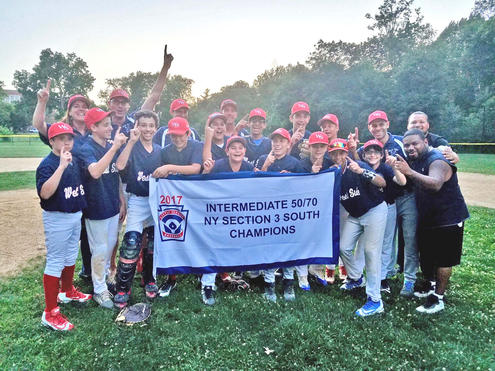 West Side Little League - WSLL 13u Hawks - NYC 2017 50/70 Sectional Champions!